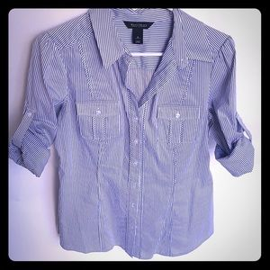 White House Black Market fitted button up top